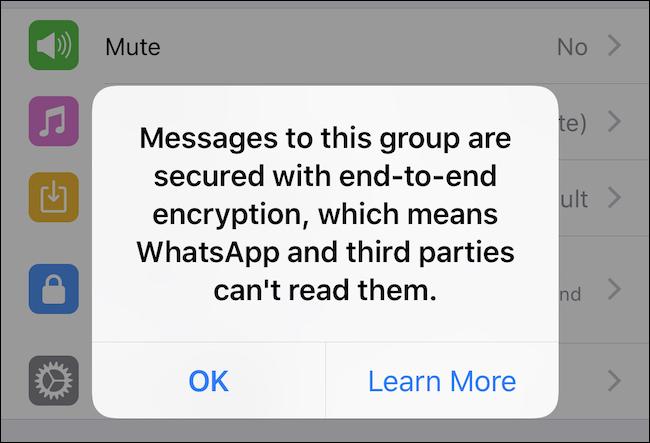 Bestätigung der Chat-Verschlüsselung