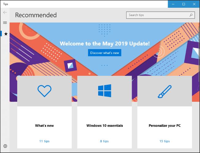 Windows 10 Tipps Tipps App