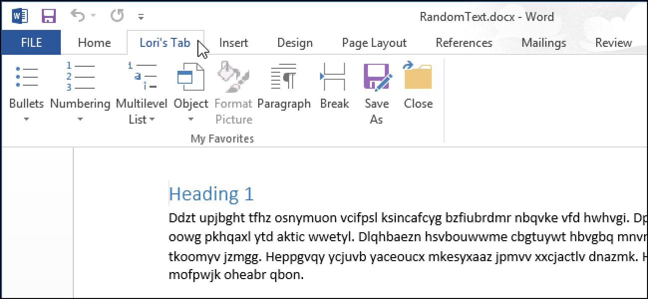 Erstellen Sie eine benutzerdefinierte Registerkarte in der Office 2013-Multifunktionsleiste