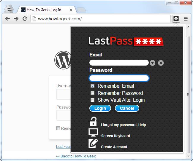 Lastpass-Anmeldung