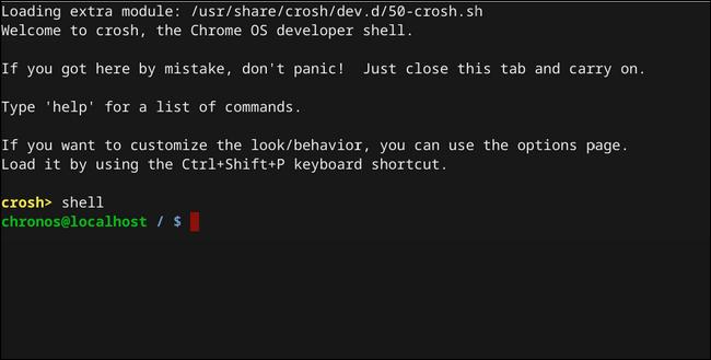 Chrome OS Shell