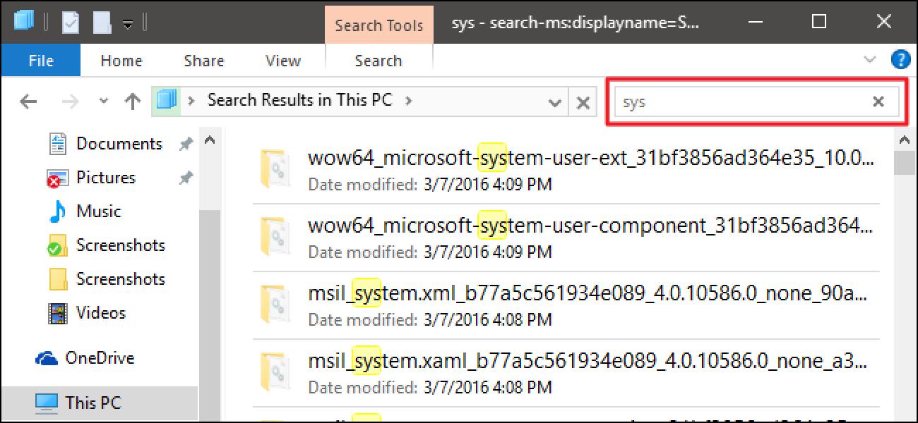So suchen Sie im Windows-Datei-Explorer durch einfaches Tippen