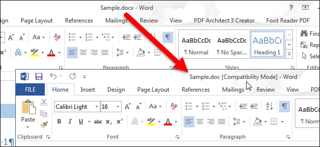 So konvertieren Sie ein Word 2013-Dokument in eine ältere Version von Word