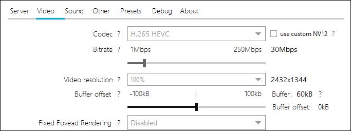 """Das """"Video"""" Einstellungsmenü auf einem Fios-Router."""