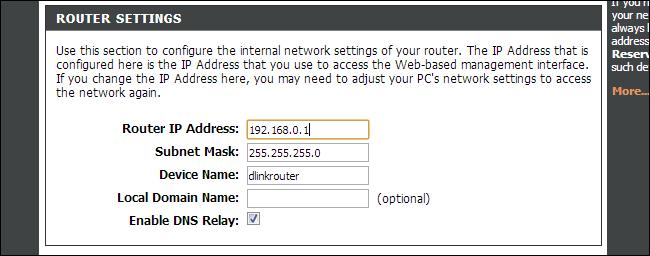 Router-IP-Adresse ändern