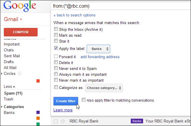 E-Mails in Google Mail automatisch kennzeichnen