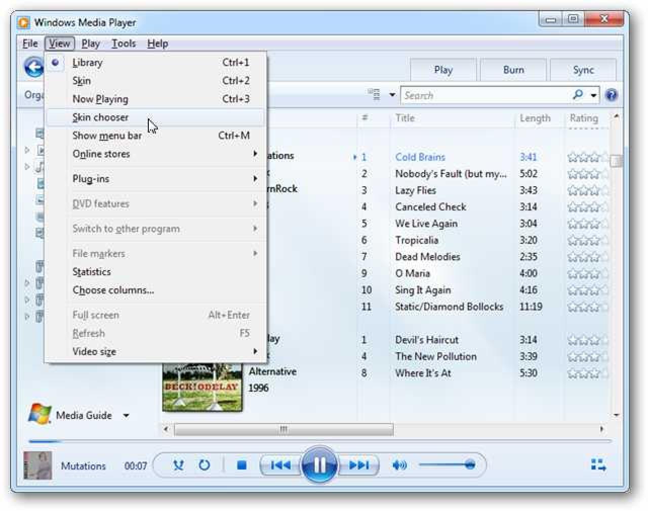 Wenden Sie Skins an, um Windows Media Player 12 etwas Flair zu verleihen