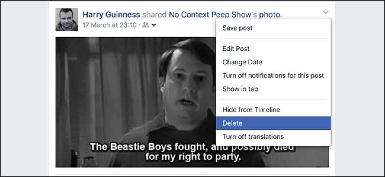 So löschen Sie einen Facebook-Beitrag