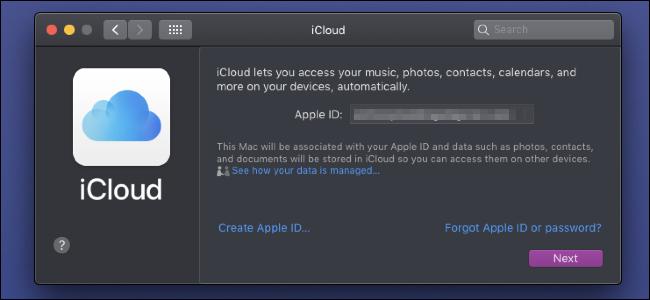 iCloud-Anmeldeseite