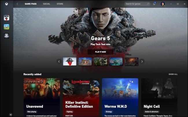 Xbox Game Pass mit dem Spiel Gears 5.
