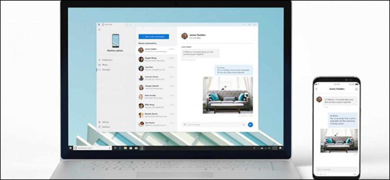 Integriertes Windows 10-Texting ist nur für Android verfügbar