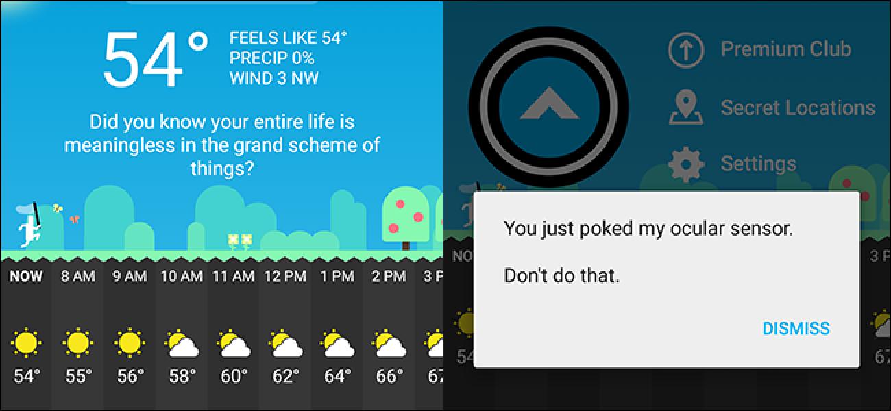 CARROT, der urkomische misanthropische Wetterroboter, ist endlich auf Android