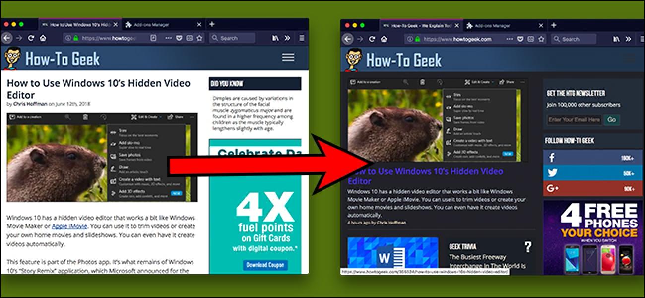 Fügen Sie mit dieser Browser-Erweiterung jeder Website einen dunklen Modus hinzu