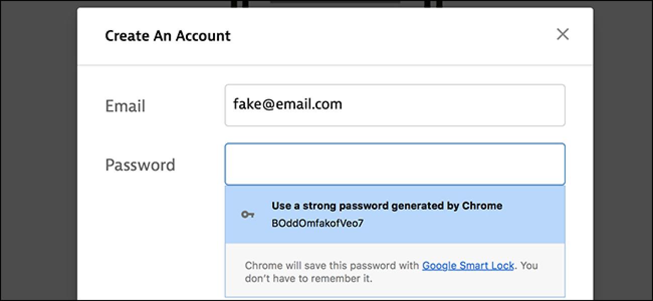 Chrome verfügt über ein Tool zur Erstellung versteckter Passwörter. So verwenden Sie es