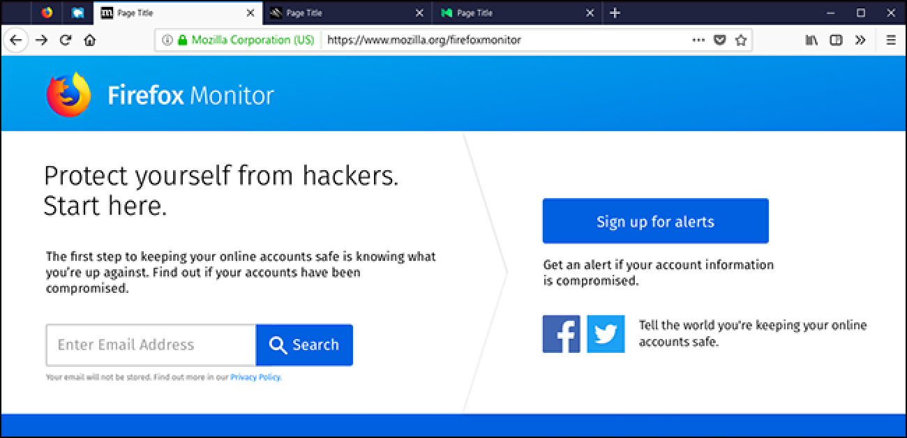 Firefox wird Ihnen bald sagen, wann Sie pwned wurden