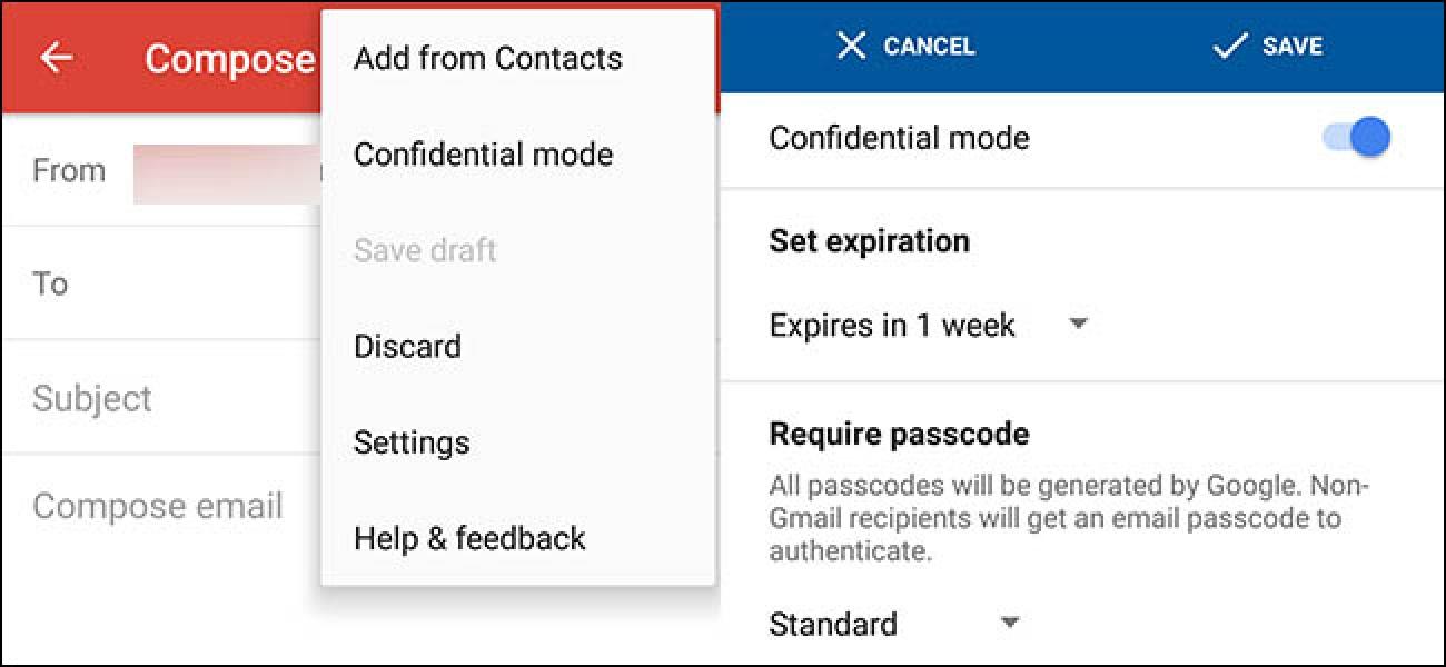 Die selbstzerstörenden E-Mails von Google Mail funktionieren jetzt auf Ihrem Telefon