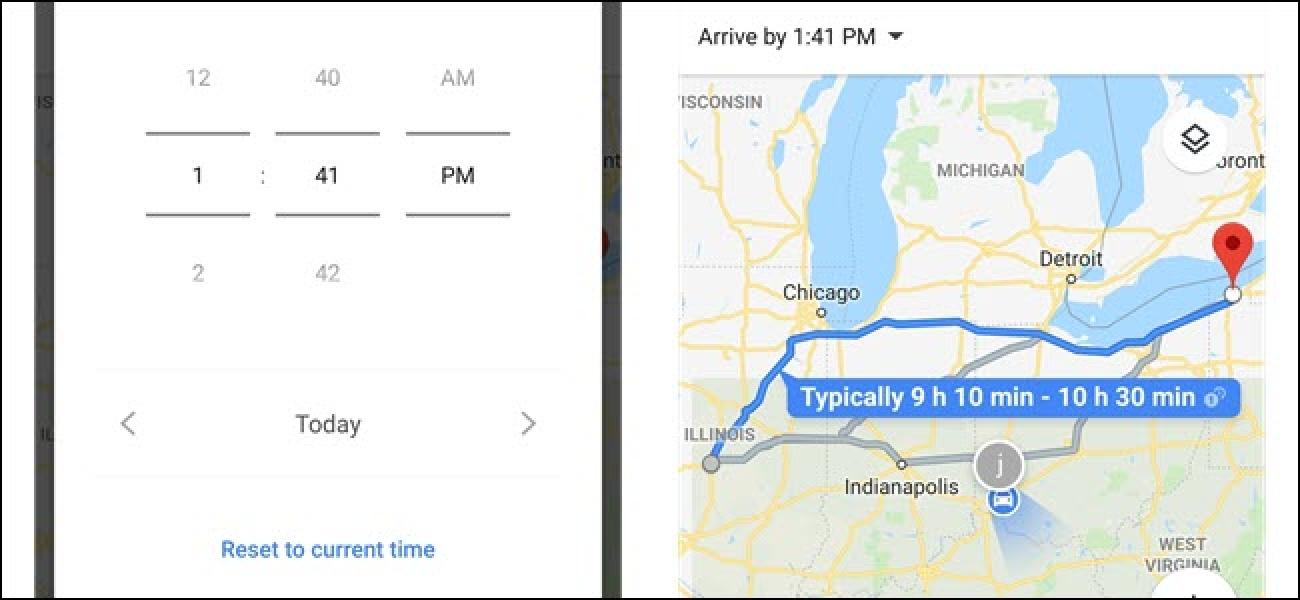 So legen Sie Abfahrts- und Ankunftszeiten in Google Maps fest