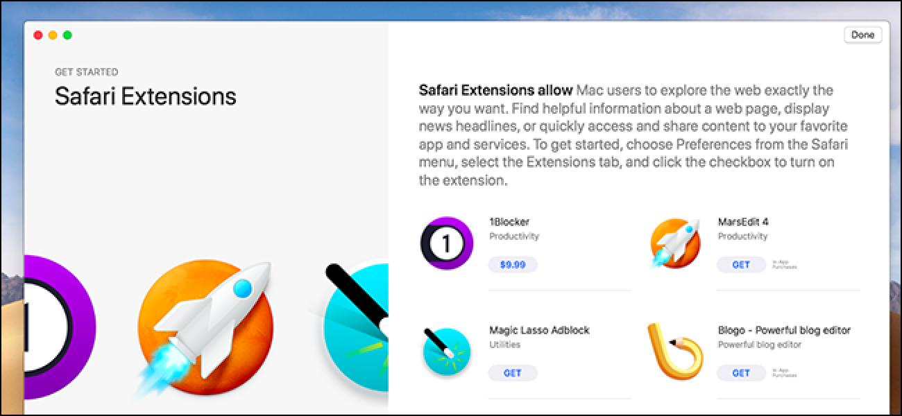 macOS Mojave wird eine Reihe von Safari-Erweiterungen auflösen