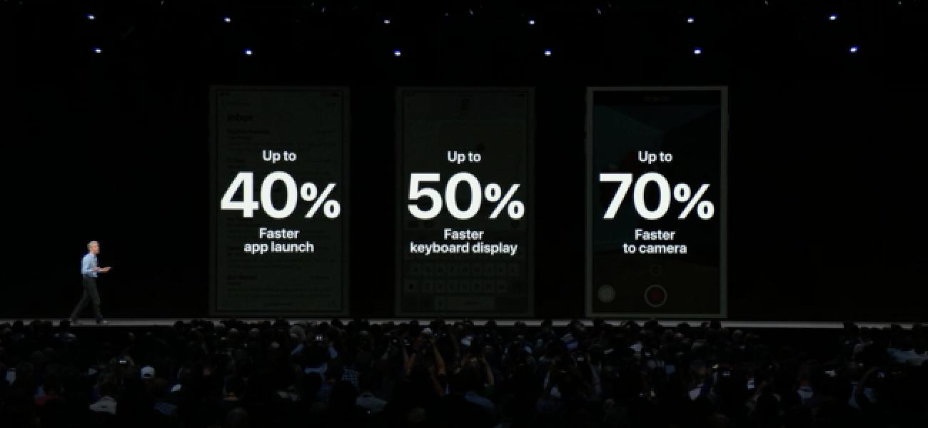 Apple behauptet, iOS 12 werde alte Geräte beschleunigen