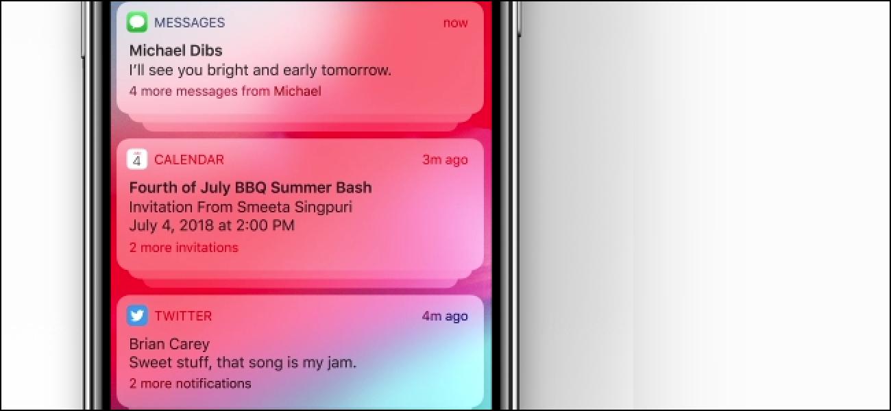 iPhones erhalten in iOS 12 gruppierte Benachrichtigungen