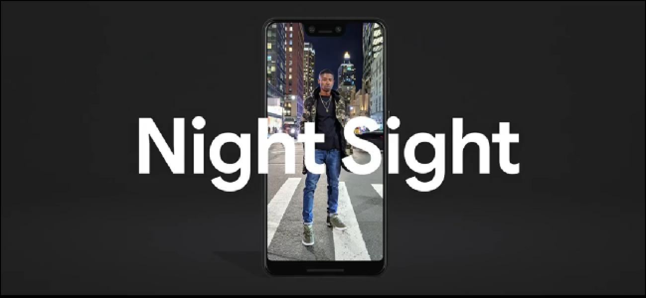 Verwenden Sie Ihren Kamerablitz nie wieder mit Nachtsicht auf Pixel-Telefonen