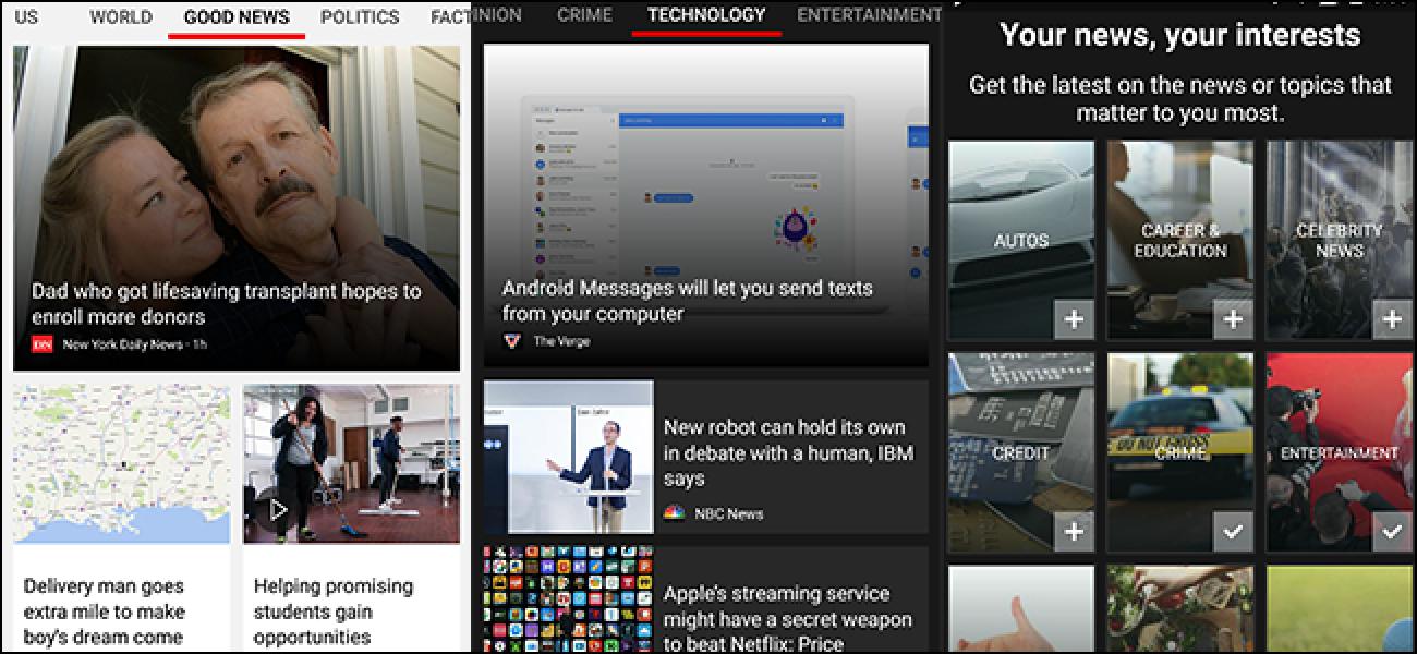 Microsoft News ist eine saubere App zum Durchsuchen und Lesen von Nachrichten auf Mobilgeräten und bietet den dunklen Modus