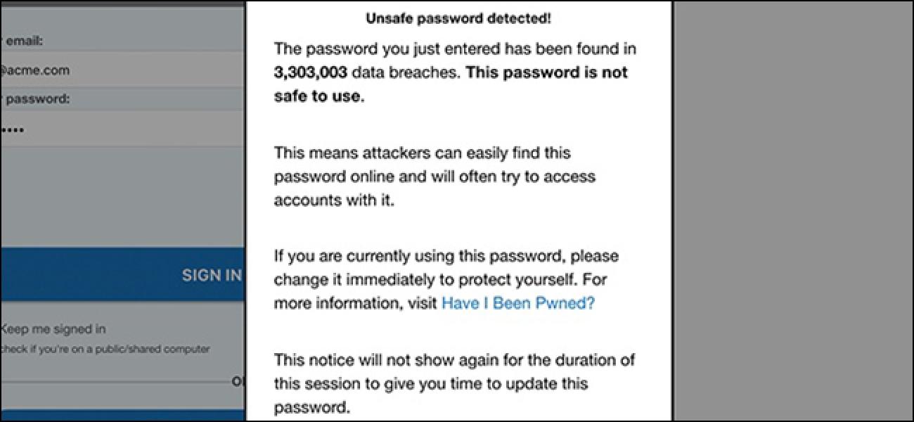 PassProtect informiert Sie, wenn Ihr Passwort kompromittiert ist