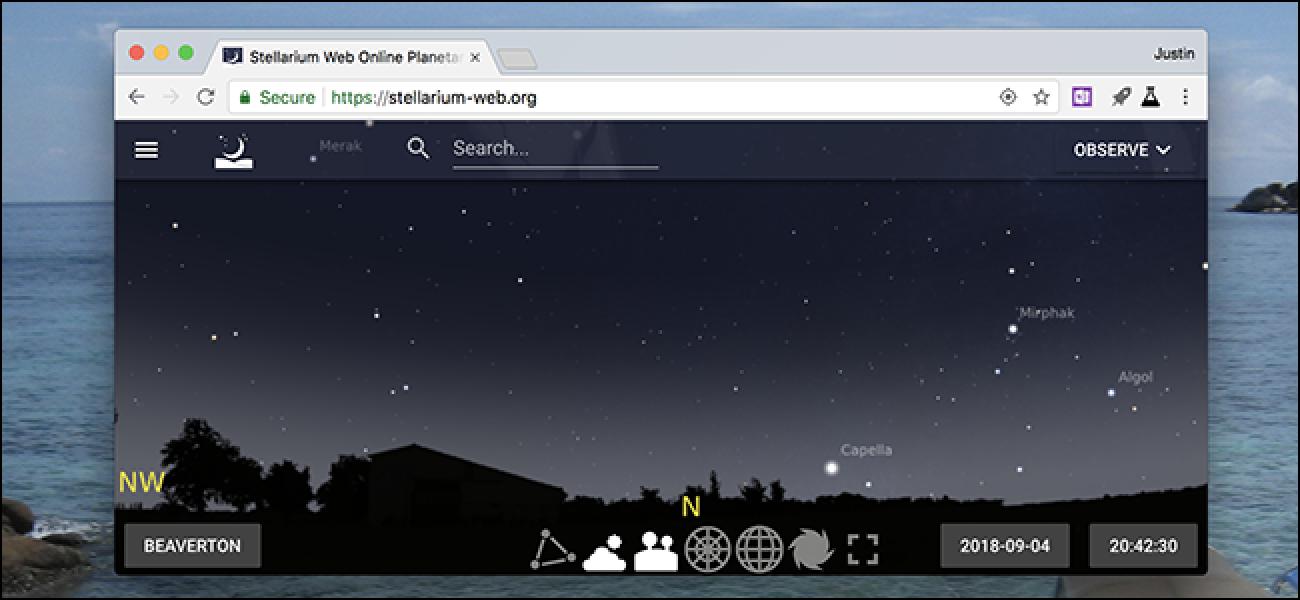 Verfolgen Sie die Sterne in Ihrem Browser mit Stellarium Web