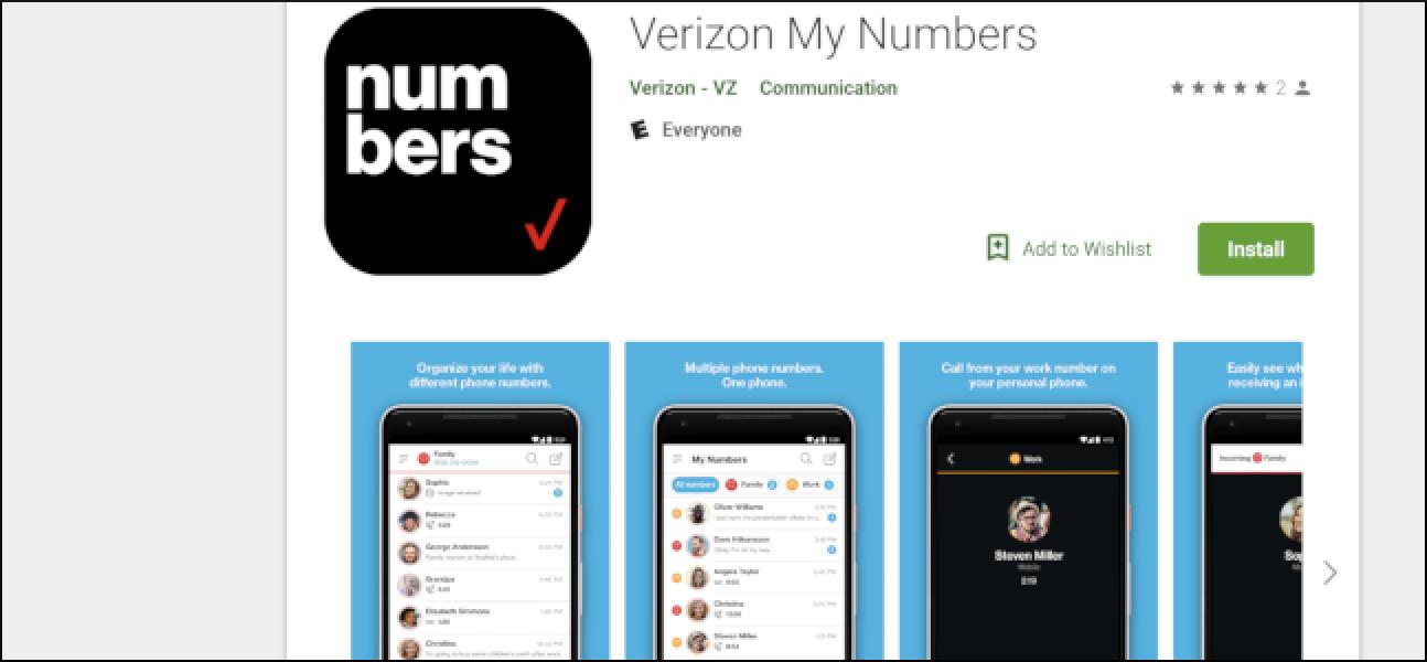 """Mit Verizon """"Meine Nummern"""" können Kunden bis zu fünf Nummern auf einem Gerät haben"""