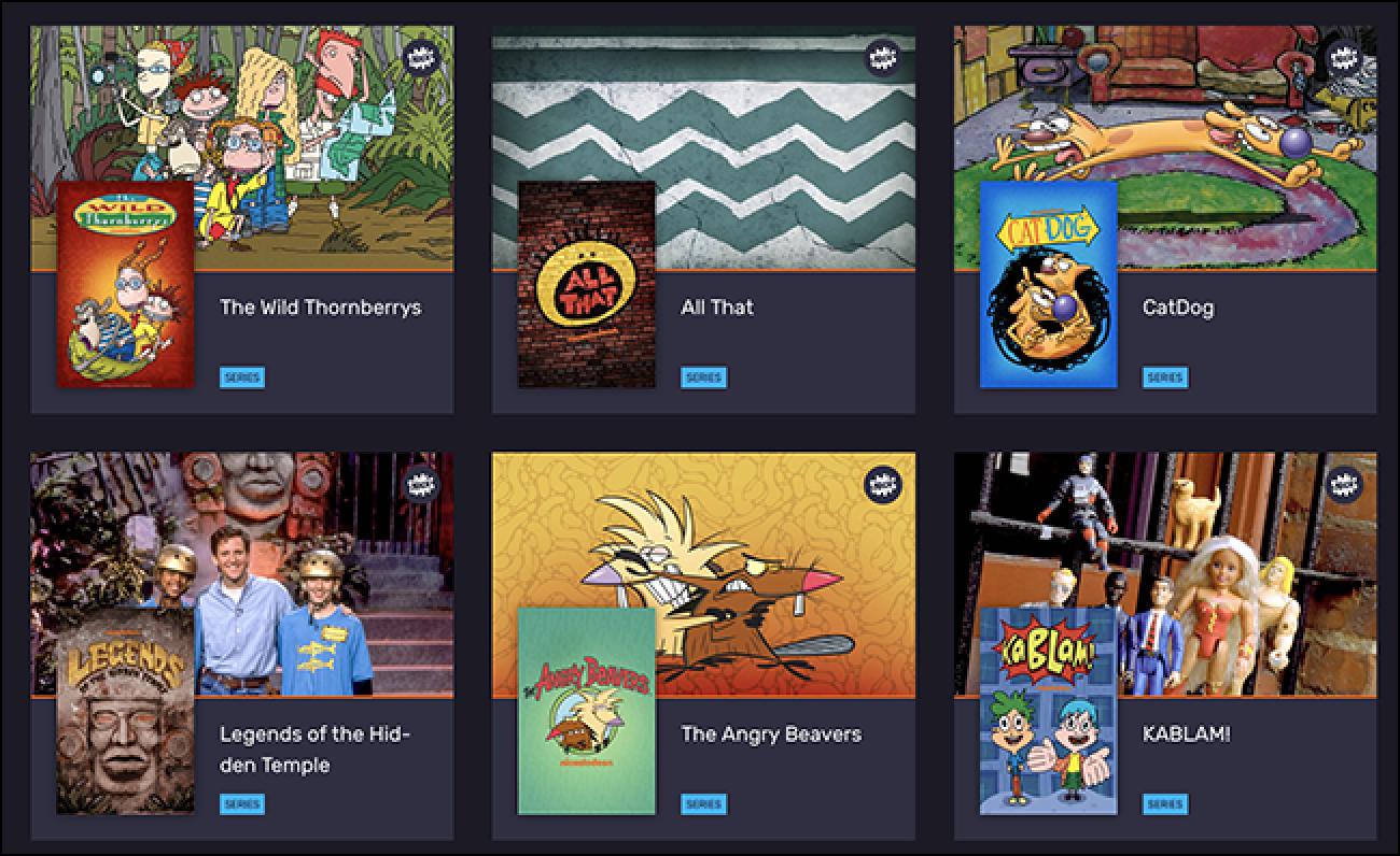 Vintage Nickelodeon wird für einen weiteren Streaming-Service für 10 US-Dollar pro Monat angeboten