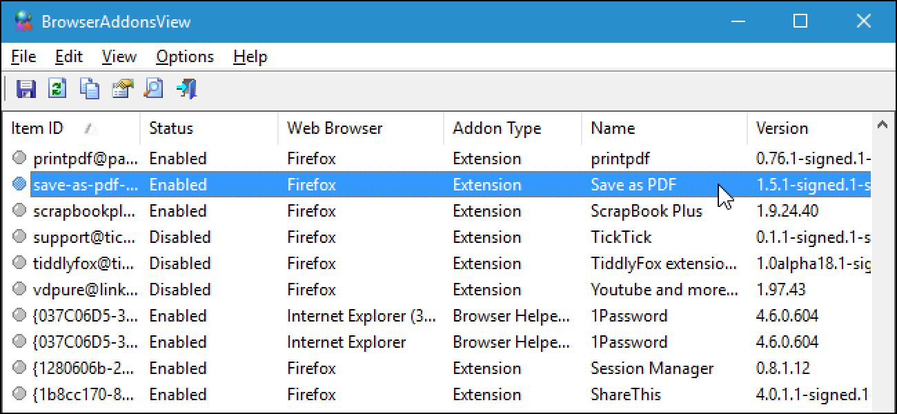 So zeigen Sie eine Liste der in all Ihren Browsern installierten Erweiterungen an