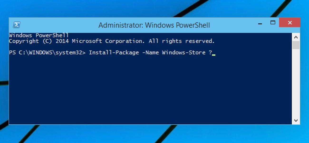 Weitere Details zu OneGet, dem Paketverwaltungs-Manager von Windows 10