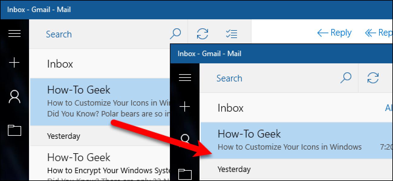 So deaktivieren Sie die Nachrichtenvorschau in Windows 10 Mail
