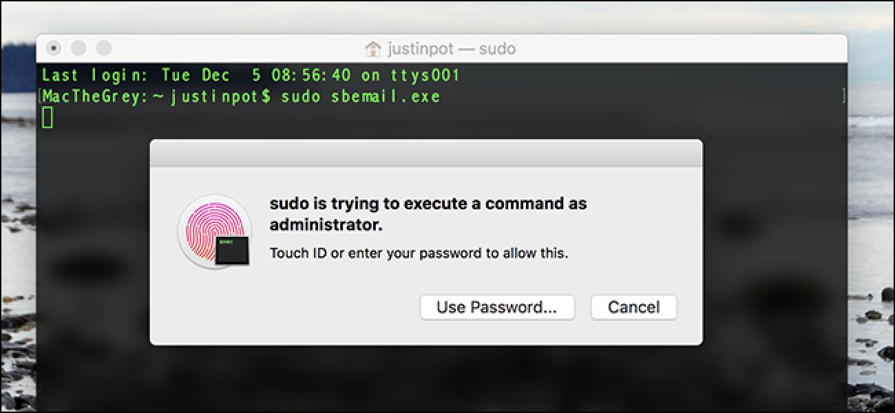 Ausführen von Sudo-Befehlen mit Touch ID unter macOS