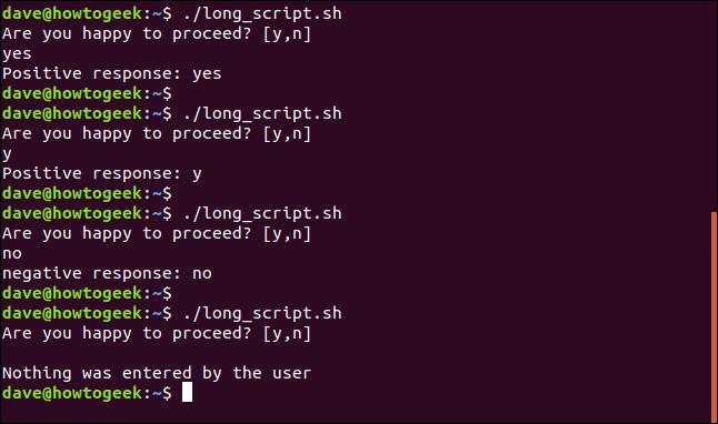 Ausgabe von long_script.sh in einem Terminalfenster