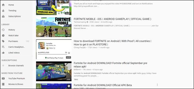 Fake Fortnite, Youtube, Fortnite, Fortnite für Android,