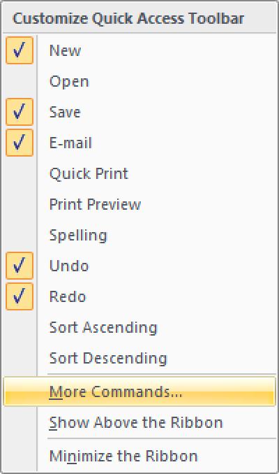 Hinzufügen von Windows Calculator zur Excel-Schnellstart-Symbolleiste (2007, 2010, 2013)