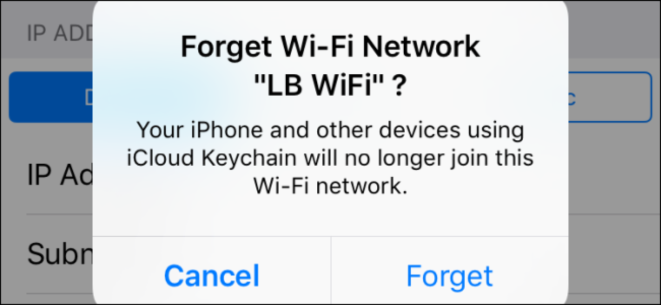 So vergessen Sie ein Wi-Fi-Netzwerk auf Ihrem iPhone oder iPad