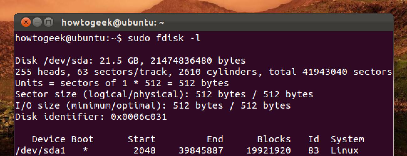 Verwendung von Fdisk zum Verwalten von Partitionen unter Linux
