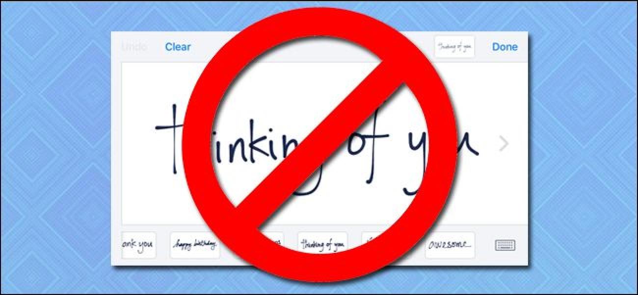 So deaktivieren Sie die Handschriftoberfläche in iMessage