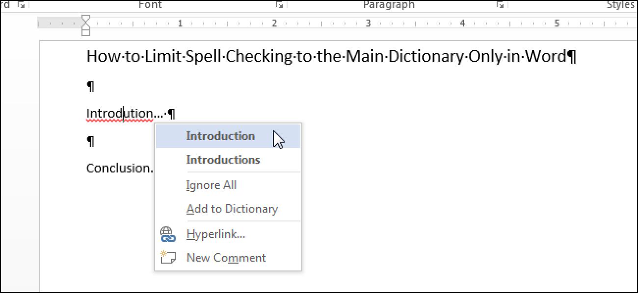 So beschränken Sie die Rechtschreibprüfung auf das Hauptwörterbuch nur in Word