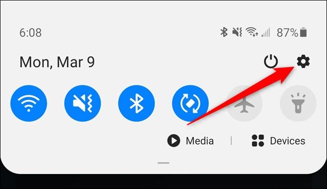 Samsung Galaxy S20 Tippen Sie auf das Einstellungssymbol