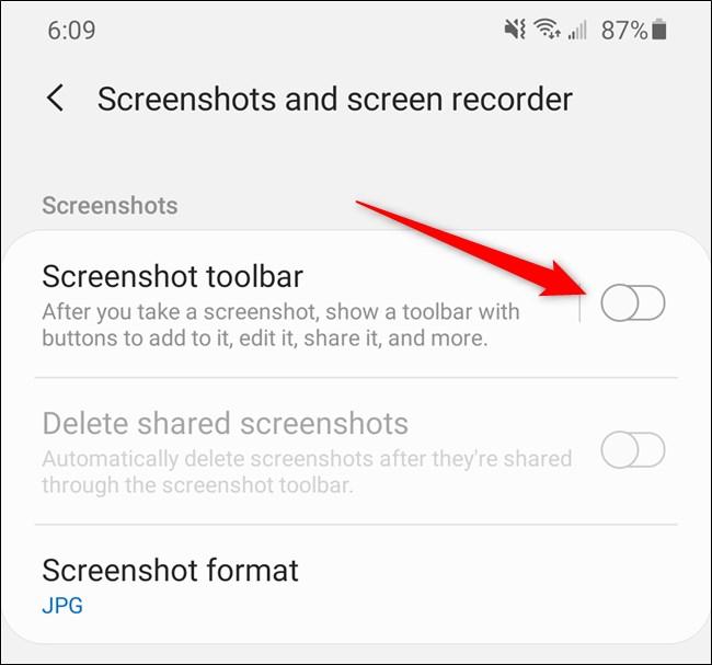 """Samsung Galaxy S20 Ausschalten """"Screenshot-Symbolleiste."""""""