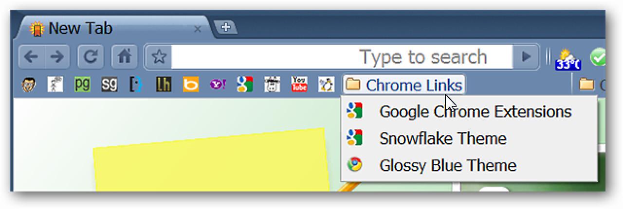 Konvertieren Sie Chrome Bookmark-Symbolleistenordner in Symbole