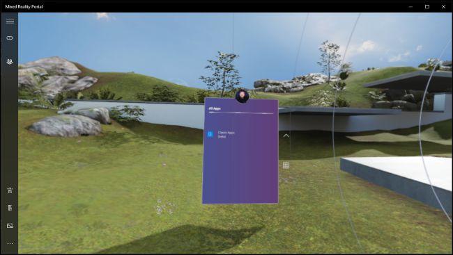 Desktop-App, die in Windows Mixed Reality ausgeführt wird