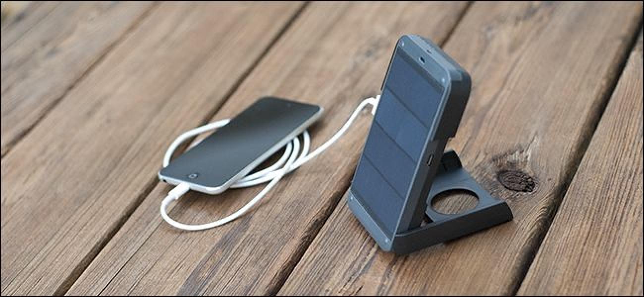 Ein Solar-Gadget-Ladegerät ohne Scherz für unterwegs