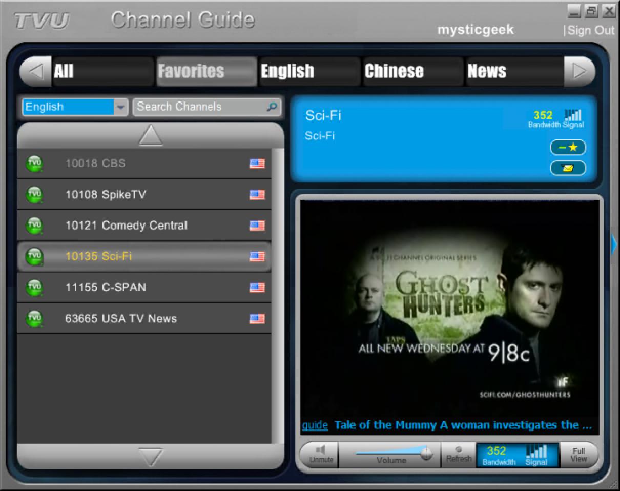 Mit TVUPlayer auf Ihrem PC fernsehen