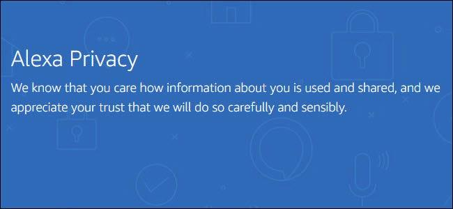Alexa Datenschutzerklärung von ihrer Website