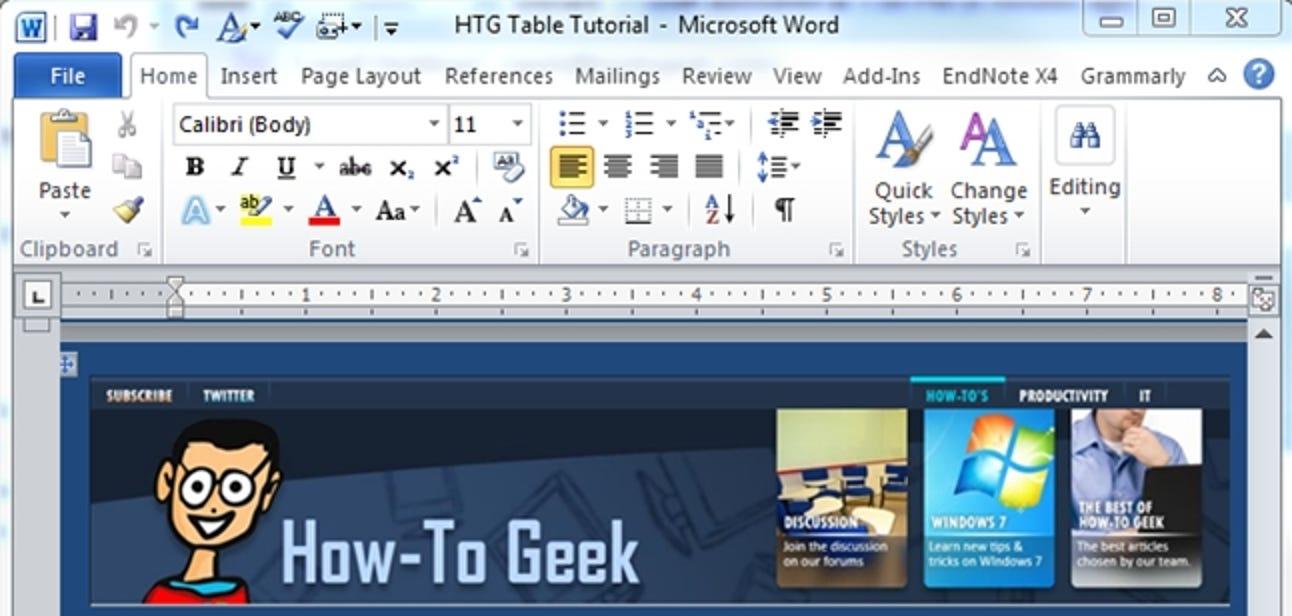 Fügen Sie Word-Dokumenten mithilfe von Tabellen Flair hinzu