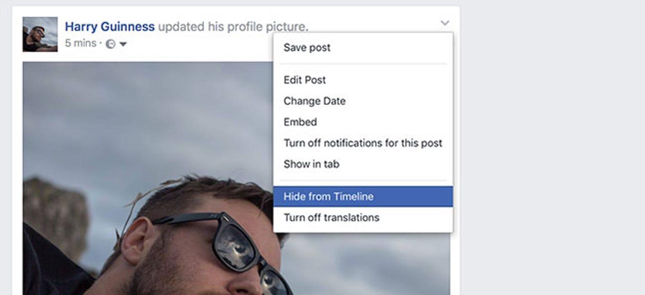 So verstecken Sie einen Facebook-Beitrag (ohne ihn zu löschen)